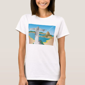 T-shirt estilizado de Rio de Janeiro, Brasil Camiseta