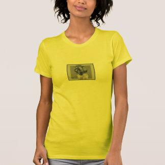 T-shirt feito sob encomenda do retrato do animal d