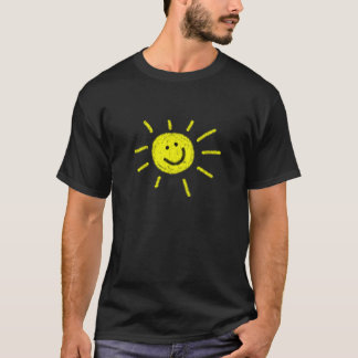 T-shirt feliz da luz do sol camiseta