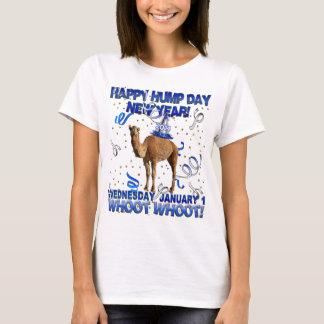 T-shirt feliz do camelo do partido do ano novo camiseta