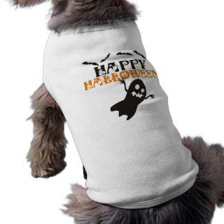 T-shirt feliz do cão do Dia das Bruxas Camisa Sem Mangas Para Cachorro