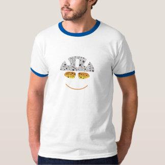 T-shirt feliz do motociclista da montanha