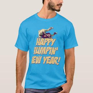 T-shirt feliz do partido do ano novo 2014 de