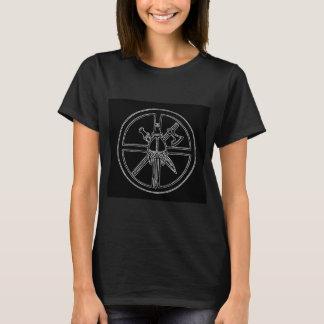 "T-shirt Feminina Preta de ""Viking"" Camiseta"