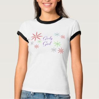 T-shirt feminino da menina camiseta
