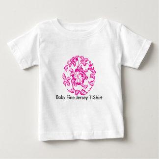 T-shirt fino do jérsei do bebê