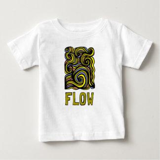 """T-shirt fino do jérsei do bebê do """"fluxo"""" camiseta para bebê"""