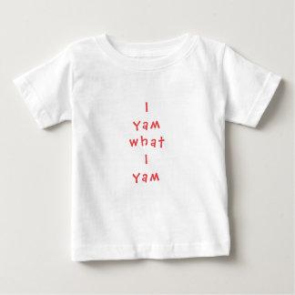 """T-shirt fino do jérsei do bebê """"mim Yam que Yam de Camiseta Para Bebê"""