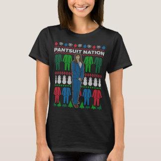 T-shirt foleiro da camisola do Natal da nação do Camiseta