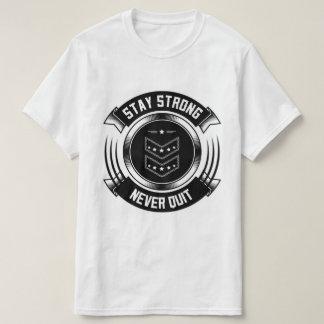 T-shirt forte de QuitValue da estada nunca Camiseta