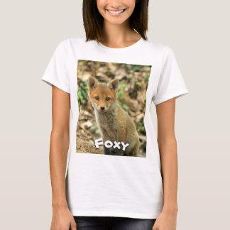 T-shirt Foxy, T do Fox, roupa dos animais Camiseta