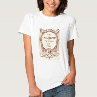 T-shirt francês de France do anúncio da etiqueta