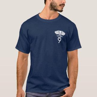 T-shirt frente e verso do marinho Postgres9 Camiseta