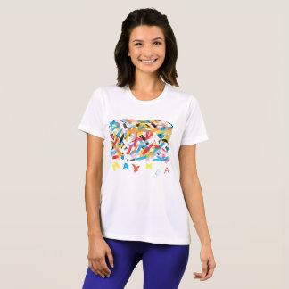 T-shirt Funky com letras aleatórias MAYMBA Camiseta