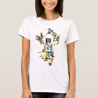 t-shirt funky do motor de automóveis camiseta