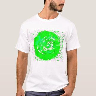 T-shirt Funky do verde limão do impressão da arte Camiseta