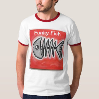 T-shirt Funky dos peixes Camiseta