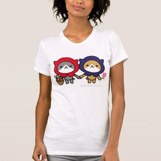 T-shirt - gatinho com um amigo camiseta