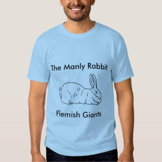 T-shirt gigante flamengo do coelho dos homens