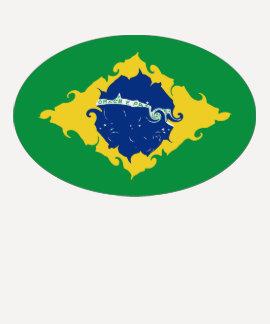 T-shirt Gnarly da bandeira de Brasil