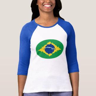 T-shirt Gnarly da bandeira de Brasil Camiseta