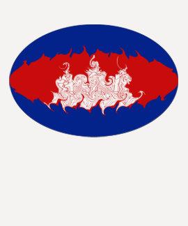 T-shirt Gnarly da bandeira de Cambodia