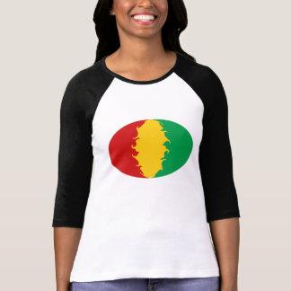 T-shirt Gnarly da bandeira de Conakry da Guiné