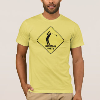 T-shirt Golfing do despedida de solteiro Camiseta