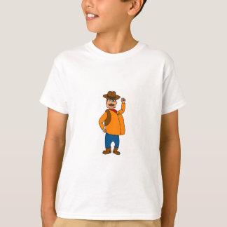 T-shirt gordo do xerife camiseta