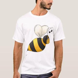 T-shirt gordo dos homens da abelha camiseta