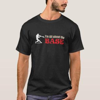 T-shirt gráficos do basebol - toda sobre a base! camiseta
