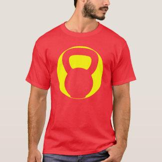 T-shirt grande do Oval do logotipo de Kettlebell Camiseta
