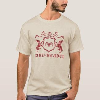 T-shirt heráldico pouco sentimental da cabra camiseta