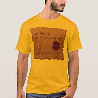 T-shirt histórico da origem dos namorados camiseta