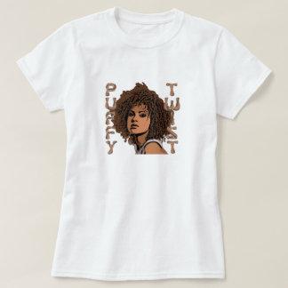 T-shirt inchado da torção