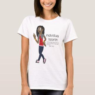 T-shirt individual do valor camiseta