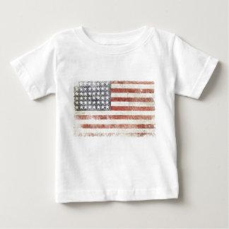 T-shirt infantil com a bandeira afligida dos EUA
