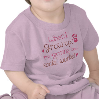 T-shirt infantil do bebê do assistente social