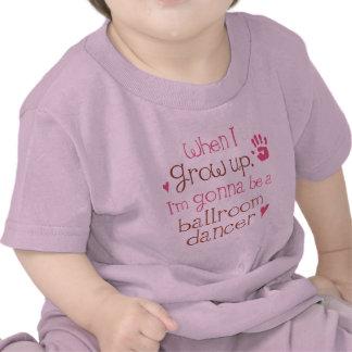 T-shirt infantil do bebê do dançarino do salão de