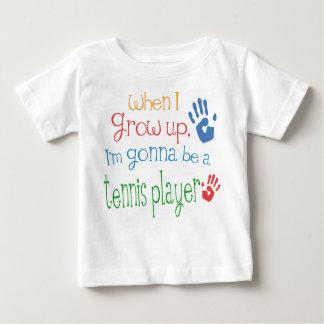 T-shirt infantil do bebê do jogador de ténis camiseta para bebê