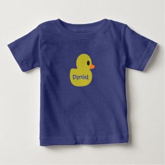 "T-shirt infantil personalizado ""Ducky"" de borracha Camiseta Para Bebê"