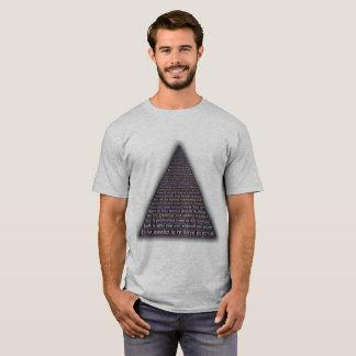 T-shirt interno da pirâmide da paz camiseta