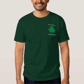 T-shirt irlandês afortunado dos homens do trevo