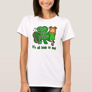T-shirt irlandês da dança camiseta