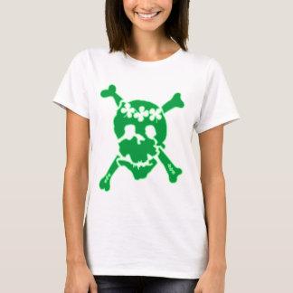 T-shirt irlandês do crânio do trevo camiseta