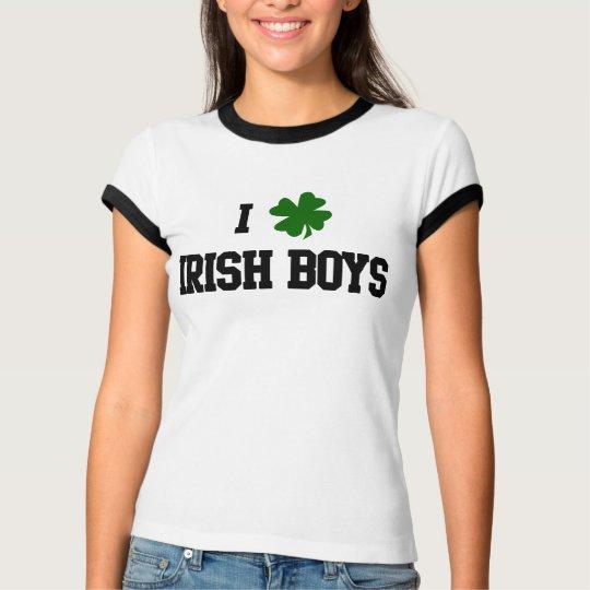 T-shirt irlandês dos meninos camiseta