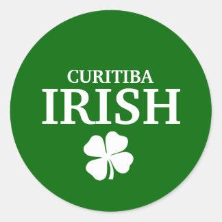 T-shirt irlandês feito sob encomenda orgulhoso da adesivo