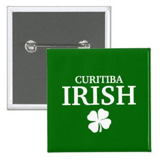 T-shirt irlandês feito sob encomenda orgulhoso da  bóton quadrado 5.08cm