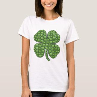 T-shirt irlandeses afortunados do trevo camiseta