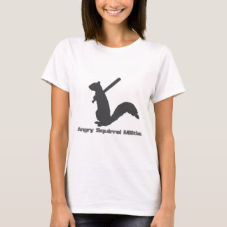T-shirt irritado da milícia do esquilo camiseta
